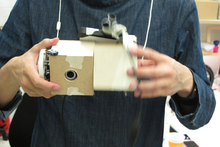 A simple functioning model with the outside casing made from card and tape just to show how the insides function and work.